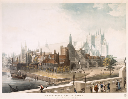 Westminster Hall and Abbey: 1819
