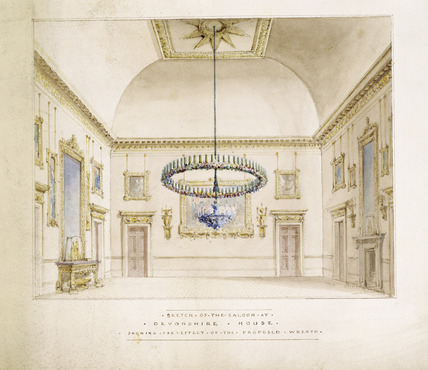 The saloon at Devonshire House: 1828