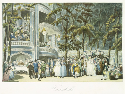 Vauxhall: 18th century by Thomas Rowlandson at Museum of London