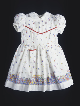 A child's Coronation dress: 20th century