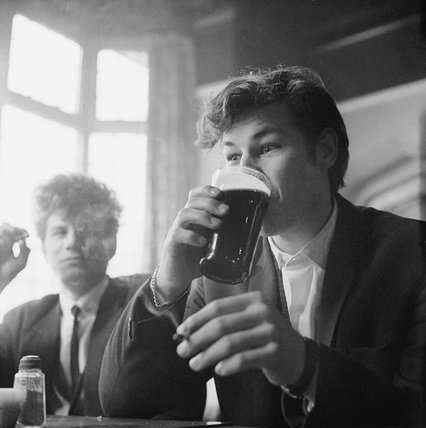 Two patrons of the Prospect Of Whitby pub: 1965