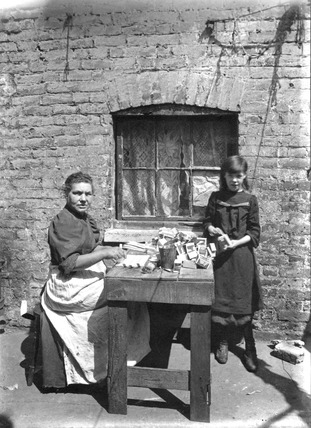 Assembling Matchboxes at Home: c.1900