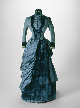 Bustle dress ensemble: 19th century