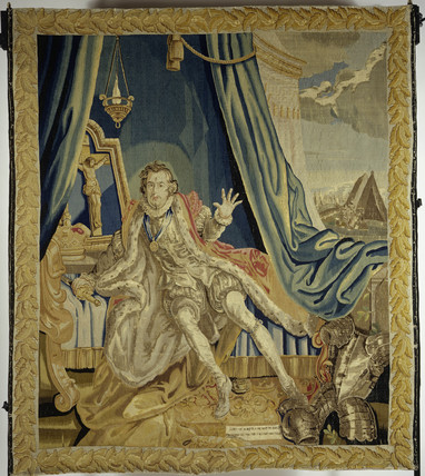 Tapestry in wool & silk: 18th century