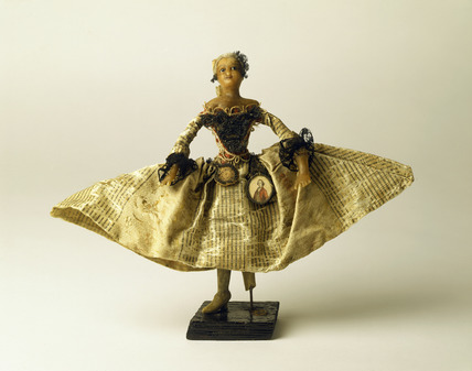 Wax fashion doll: 18th century