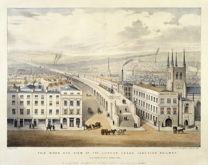 Bird's Eye view of the London Grand Junction Railway: 1846