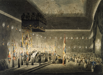 Nelson lying in state at Greenwich Hospital: 1806