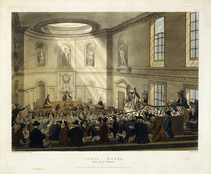 India House, the Sale Room: 1808