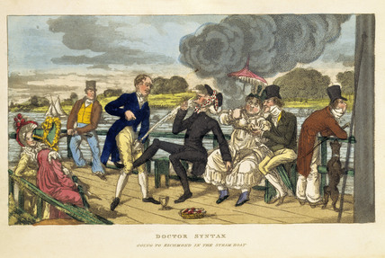Doctor Syntax going to Richmond in the steam boat: 1820