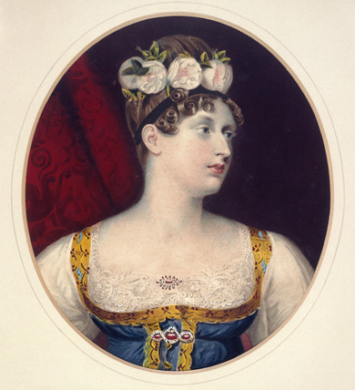 Portrait of Princess Charlotte of Saxe-Coburg: 19th century