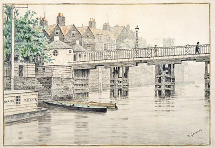 Battersea Bridge (Old Chelsea Bridge): 19th century