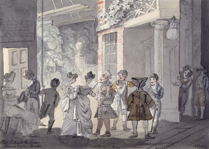 A peep behind the scenes: Covent Garden Theatre: 1802