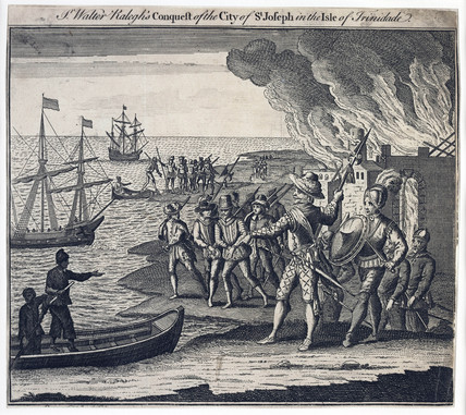 Sir Walter Ralegh's Conquest of the City of St Joseph in the Isle of Trinidade in 1595: 18th century
