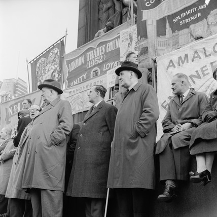 Labour Party Rent Act demonstration: 1957