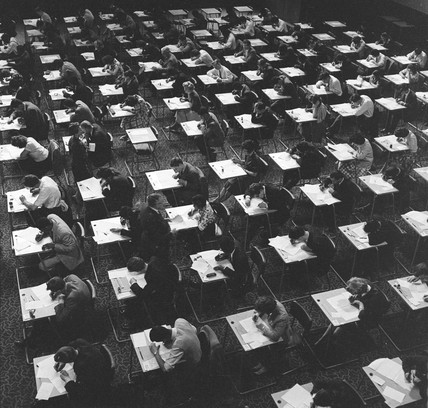 Students sitting exams, University of London: 1961
