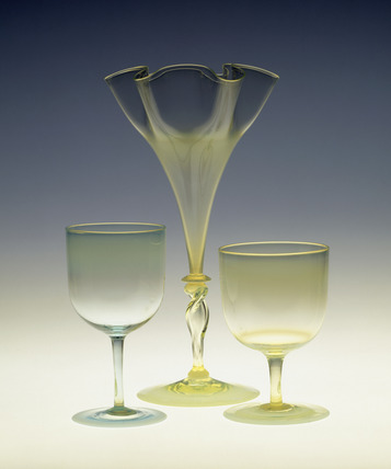 Selection of opal glass vessels: 19th century