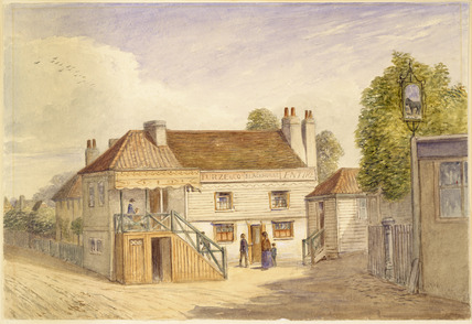 Exterior of the Black Horse: 1871
