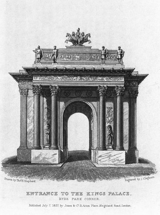 Entrance to the Kings Palace: 1827