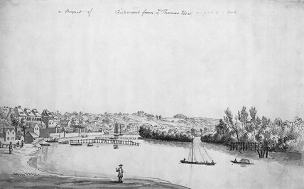 A prospect of Richmond from the Thames side: 18th century