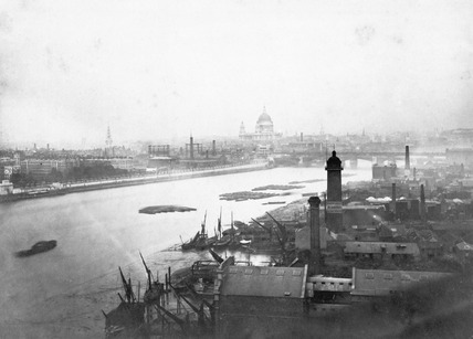 The Thames from South Bank: 19th century