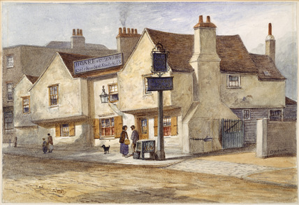Exterior of The Angel Inn, Tooting: 1850