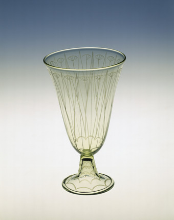 Goblet made in Sea Green glass: 20th century