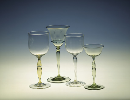 Selection of whitefriars glasses: late 19th-early 20th century