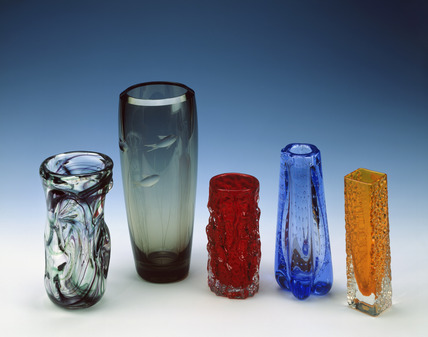 Selection of Whitefriars vases: 20th century