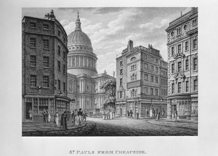 St Paul's from Cheapside: 1800
