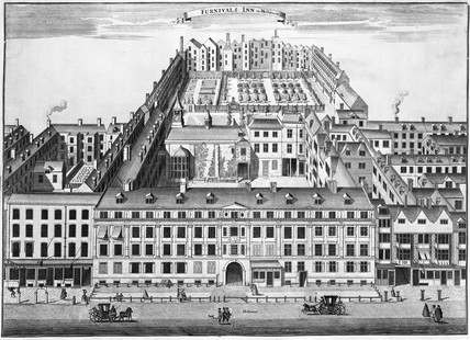 Furnival's Inn in Holborn: 1754