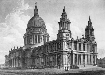 North West View of the Cathedral Church of St Paul's: 1814