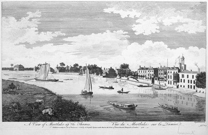 A View of Mortlake up the Thames: 1753