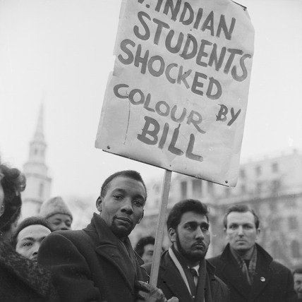 A demonstration against the Colour Bar Immigration Bill, Trafalgar Square: 20th century
