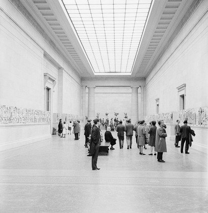 Parthenon sculptures on display at the British Museum: 1967