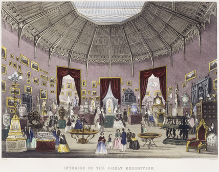 Interior of the Great Exhibition: 1851