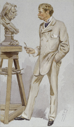 Full length portrait of Joseph Edgar Boehm: 19th century