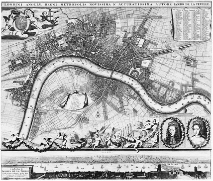 Tourist Map, William and Mary: 1690
