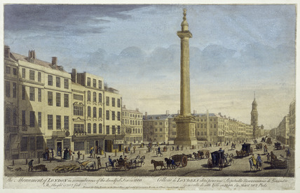 The Monument of London in Rememberance of Dreadfull Fire in 1666: 1752