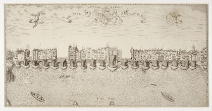 The View of London Bridge from East to West: 17th century