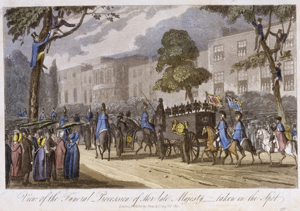 View of the funeral procession of Her Late Majesty: 19th century