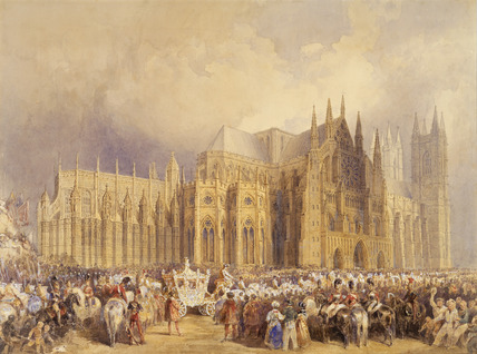Coronation procession of King William IV and Queen Adelaide: 1831