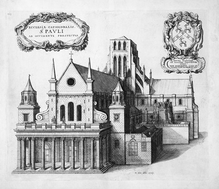 St Paul's from the west: 1656