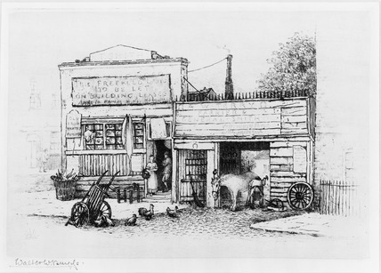 Old Smithy, Lordship Place: late 19th- early 20th century