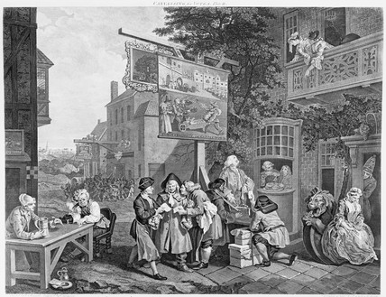 Canvasing for votes - plate 2: 18th century