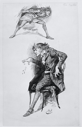 Irving as Mathias in The Bells: 19th century