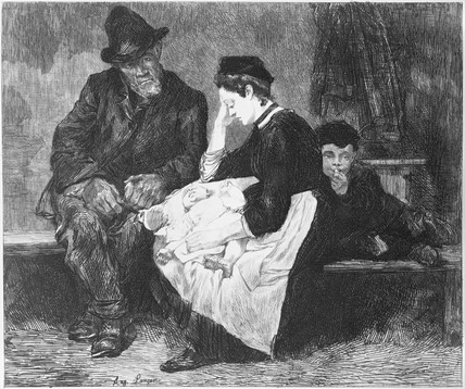 Irish Immigrants in a lodging house in Drury Lane: 1884