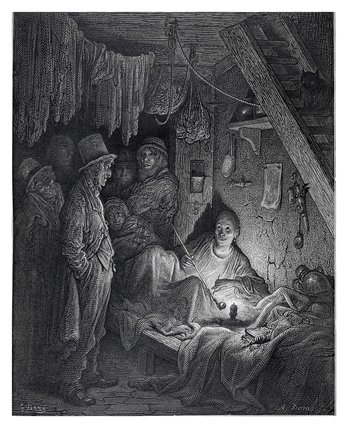 Opium smoking - the lascar's room in 'Edwin Drood': 1872