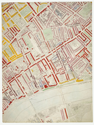 Descriptive map of London Poverty: Section 42: 1889
