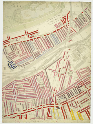 Descriptive map of London Poverty: Section 53: 1889