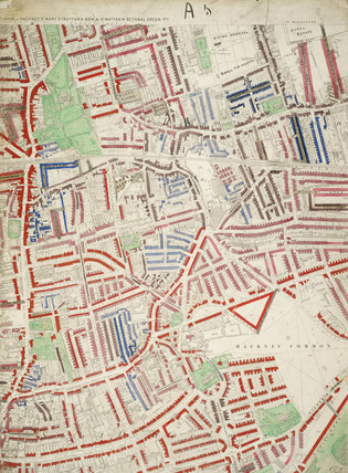Descriptive map of London Poverty: Section 9: 1889